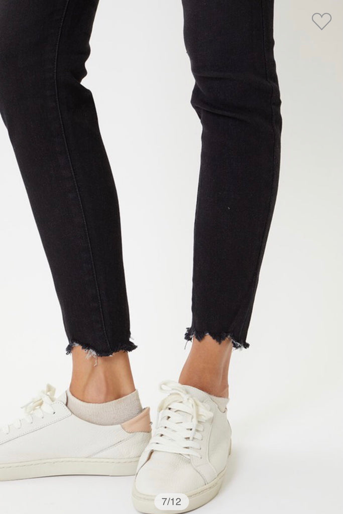 "KANCAN ""Just Imagine"" High Rise Button Fly Jeans (Dark Grey)"