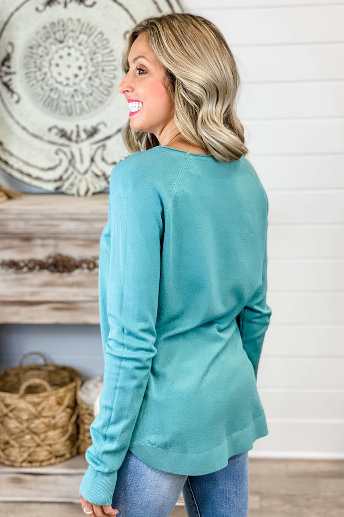 Over the Moon Top (Light Jade)