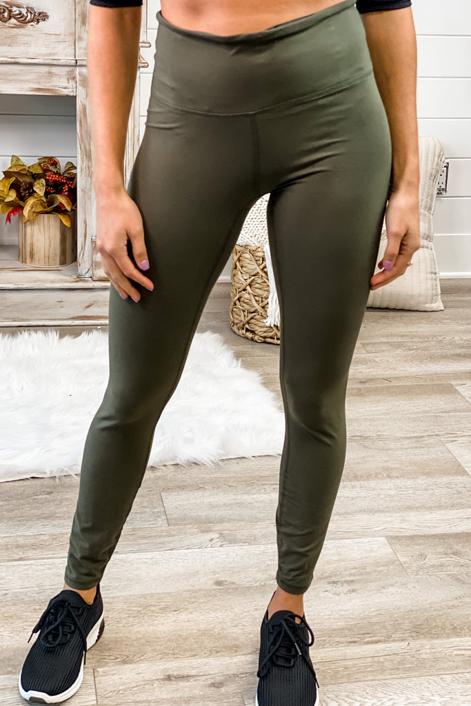 (Olive) Love to Lounge Full Length Yoga Leggings