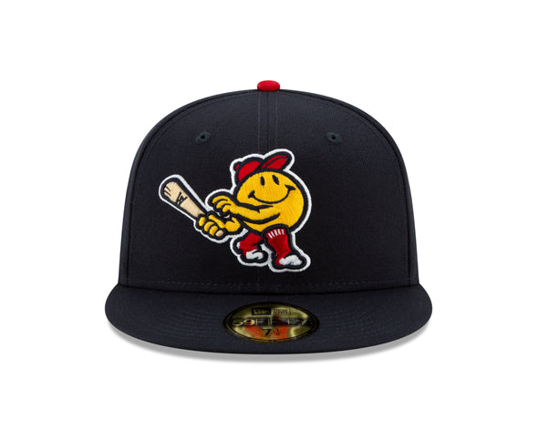 Worcester Red Sox Navy Smiley 5950 Hat