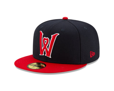Worcester Red Sox Navy/Red Heart W 5950 Hat
