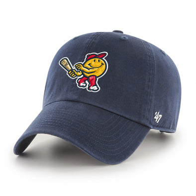 Worcester Red Sox Navy Smiley '47 CLEAN UP