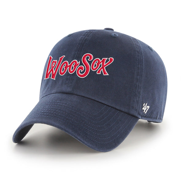 Worcester Red Sox Navy Script '47 CLEAN UP