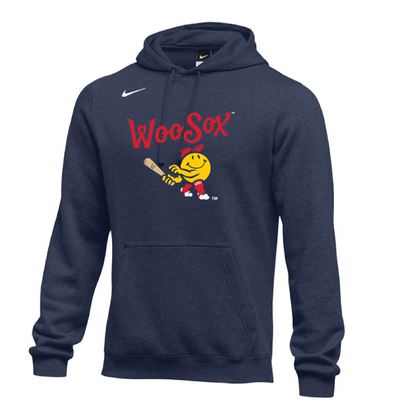 Worcester Red Sox Navy Primary Nike Club Hood