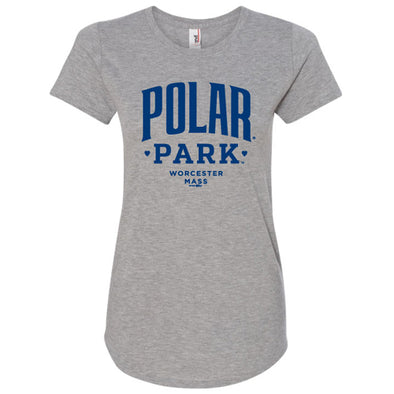 Worcester Red Sox Grey Women's Polar Park Tee