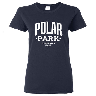 Worcester Red Sox Navy Women's Polar Park Tee
