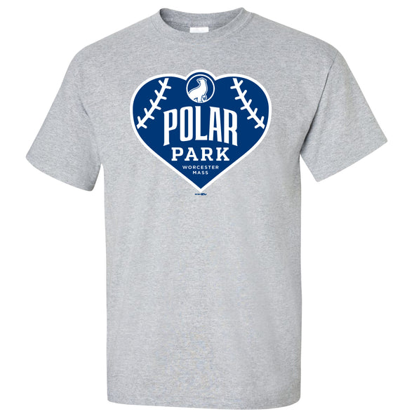 Worcester Red Sox Sport Gray Polar Park Heart Tee