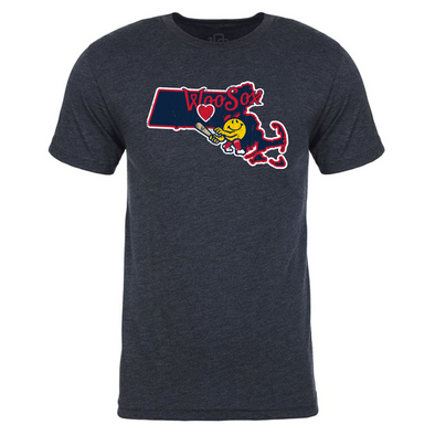 Worcester Red Sox Navy State Tee