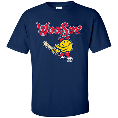 Worcester Red Sox Navy WooSox Primary Tee