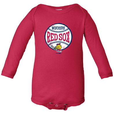 Worcester Red Sox Red Infant Vermont Longsleeve Bodysuit