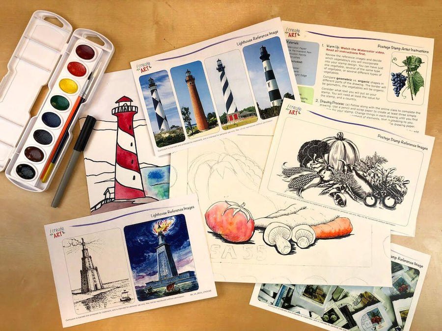 Advanced Artist Series: Lighthouse & Postage Stamp