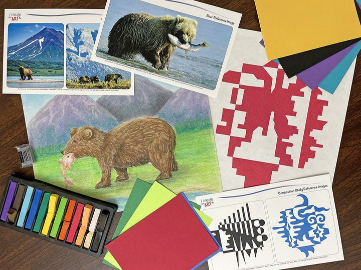 Creative Artist Series: Bear & Composition Study Art Box I Create Art