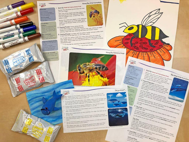 Young Artist Series: Honey Bee & Whale Art Box I Create Art
