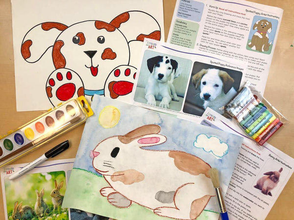 Young Artist Series: Bunny & Puppy Art Box I Create Art