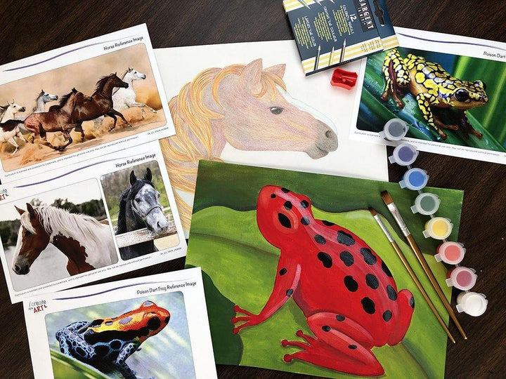 Creative Artist Series: Horse & Frog Art Box I Create Art