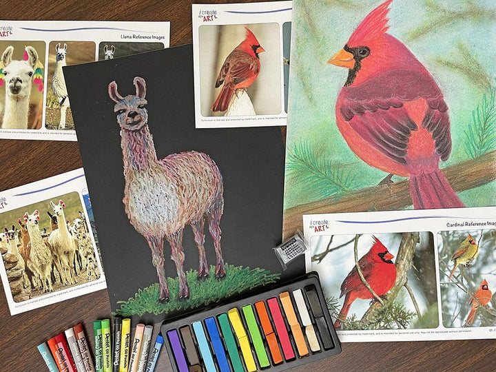 Creative Artist Series: Cardinal & Llama Art Box I Create Art