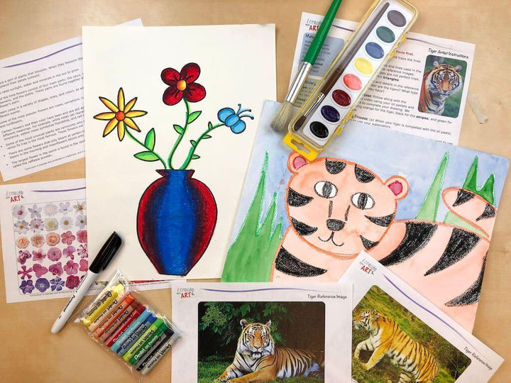 Young Artist Series: Flower & Tiger Art Box I Create Art