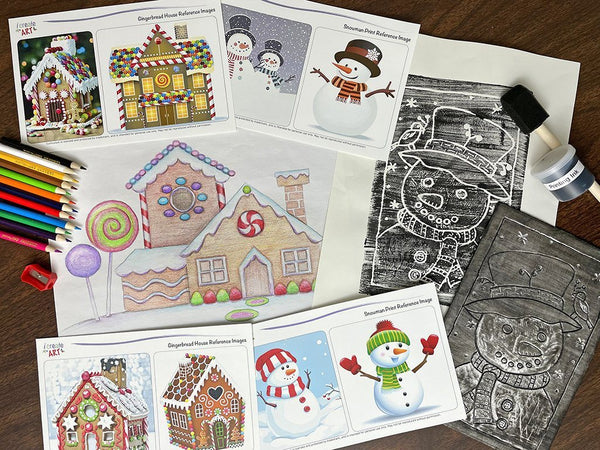 Creative Artist Series: Gingerbread House & Snowman Art Box I Create Art