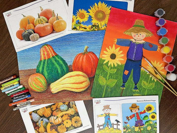 Creative Artist Series: Gourds & Scarecrow Art Box I Create Art