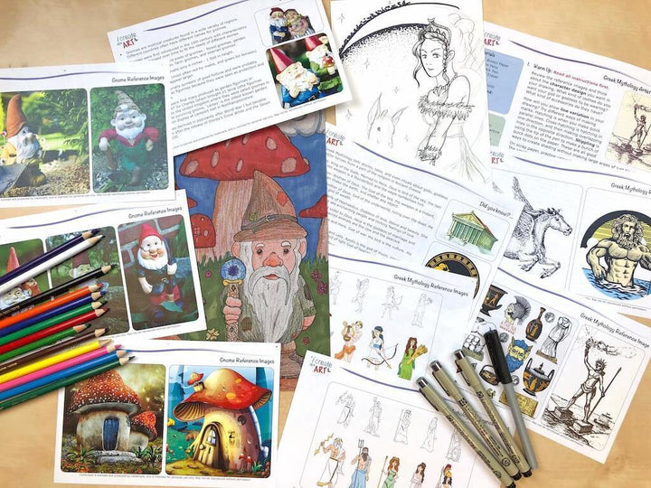 Advanced Artist Series: Gnome & Greek Mythology Art Box I Create Art