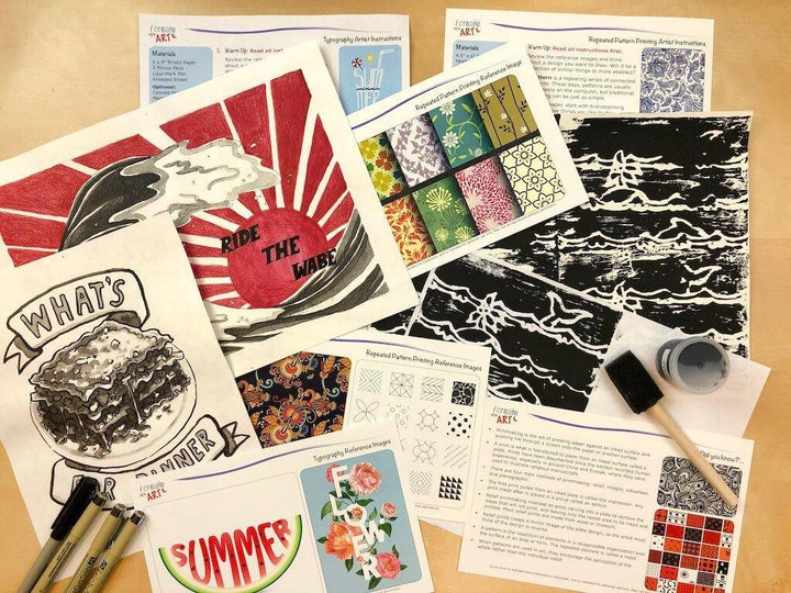 Advanced Artist Series: Printmaking & Typography Art Box I Create Art