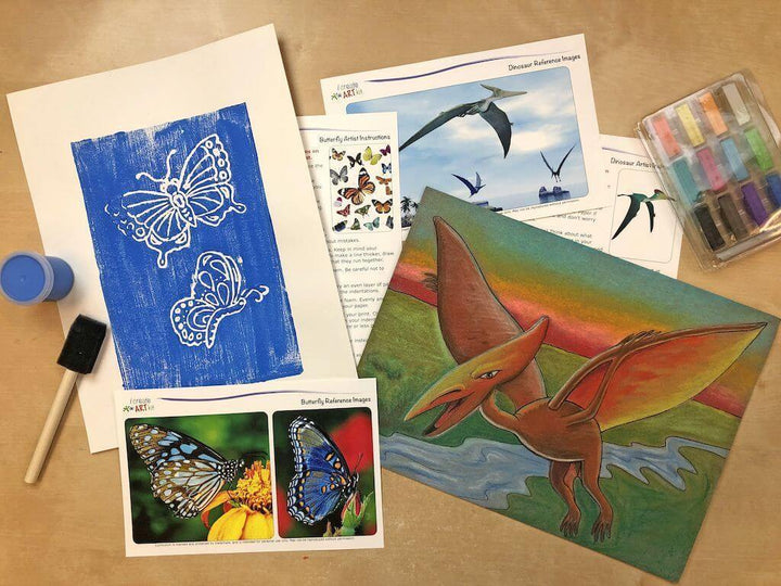 Creative Artist Series: Pterosaur & Butterfly Art Box I Create Art