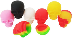 Silicone Containers 3 ml. 5x Skull Shaped