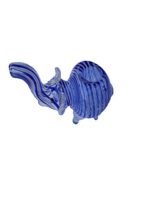 Elephant Bowl Glass Blue/ White