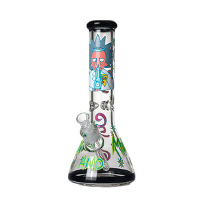 Rick and Morty Bong 7mm Thick 13.5""