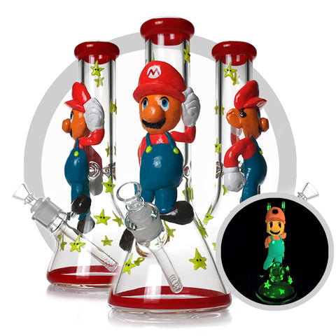 "Super Mario Brother 12.5"" 3d Bong"