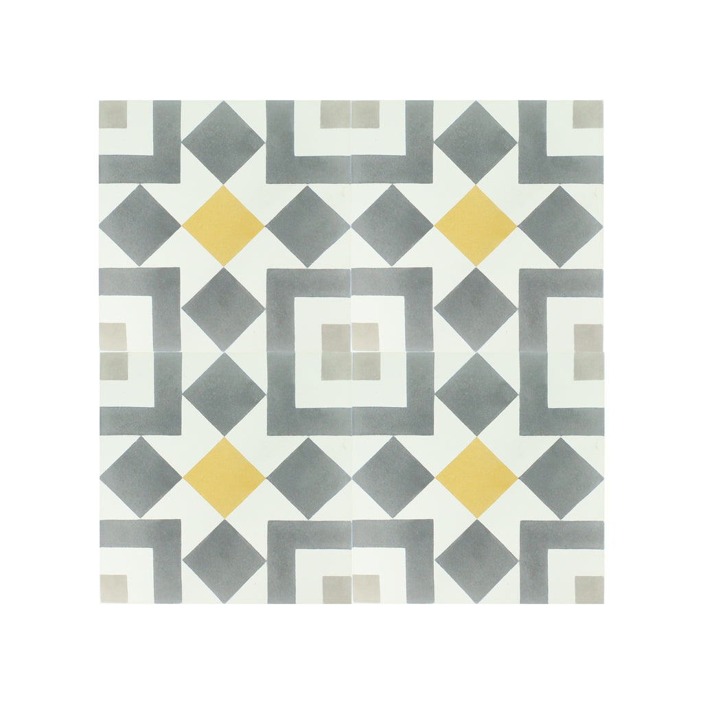 Cancun-III Cement Tile - Lot of 47.88 sq ft