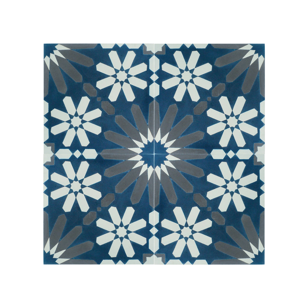 Stelle-III Cement Tile - Lot of 40 sq ft