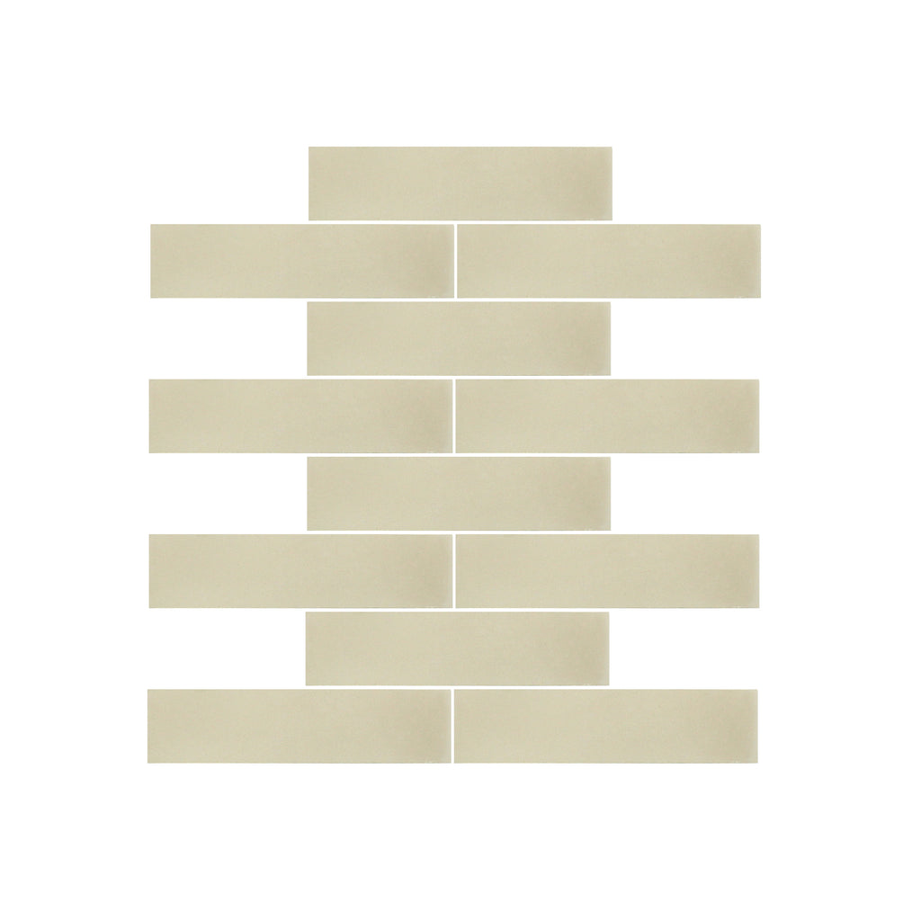 Taupe 2x8 Brick Cement Tile - Lot of 106.4 sq ft