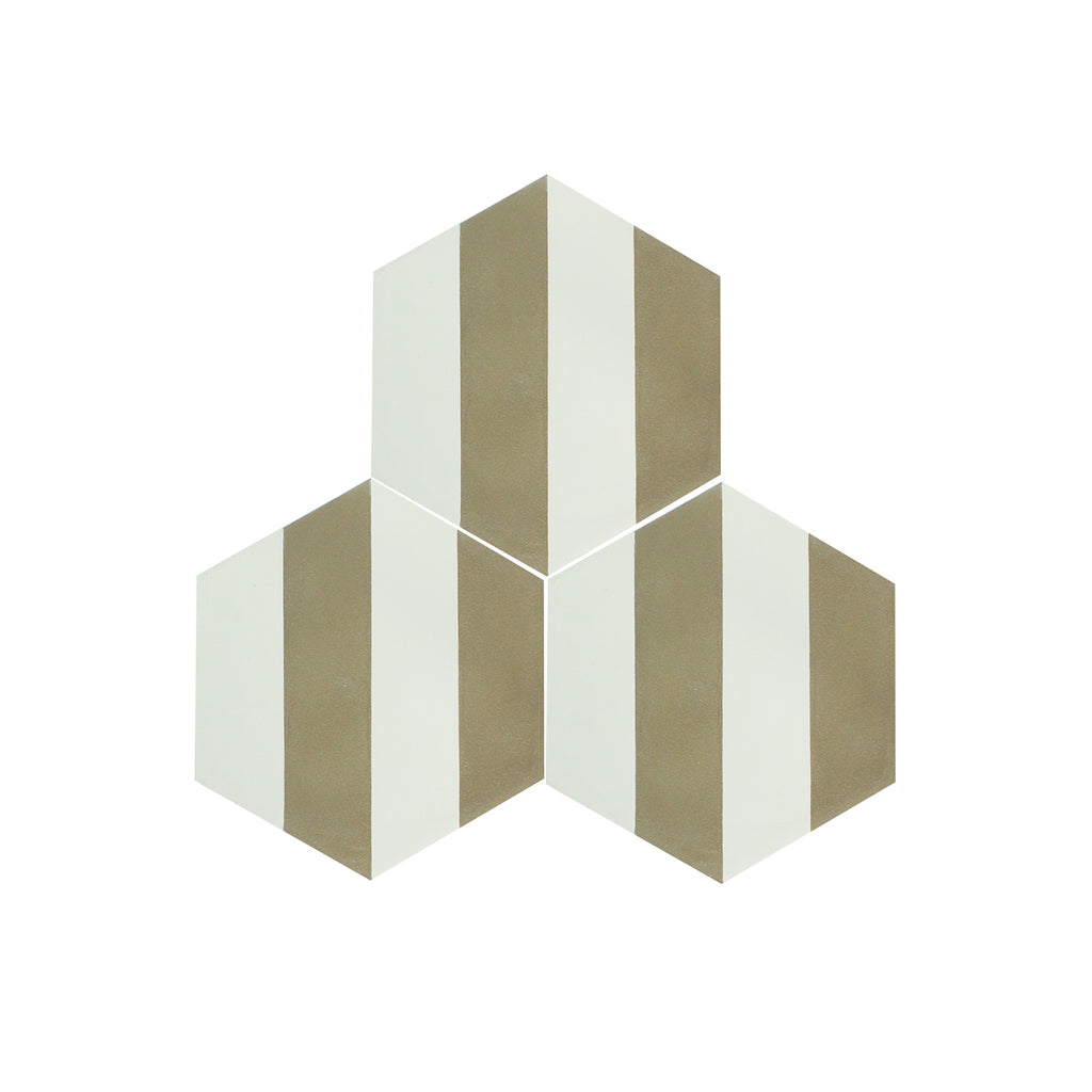 Vernice-I Hexagon Cement Tile - Lot of 89 sq ft