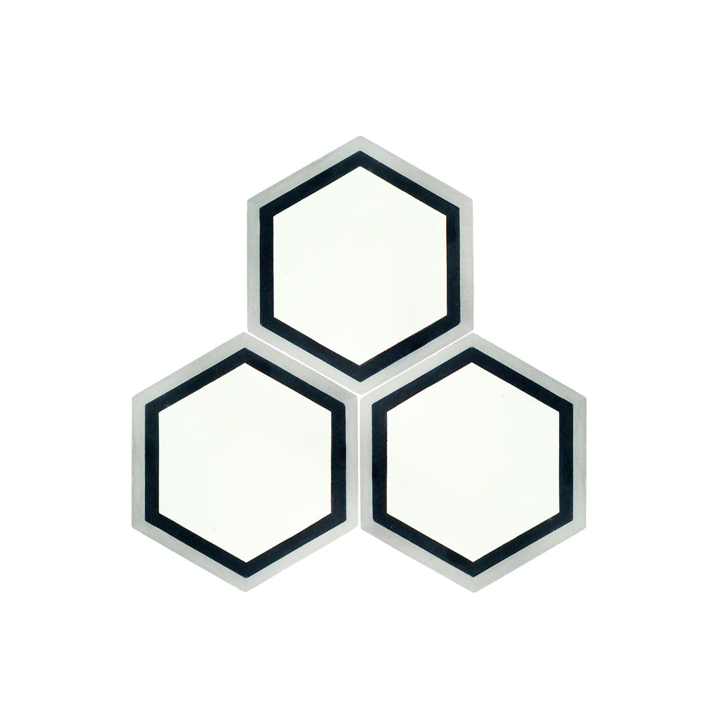 Barca Hexagon Cement Tile - Lot of 80.1 sq ft