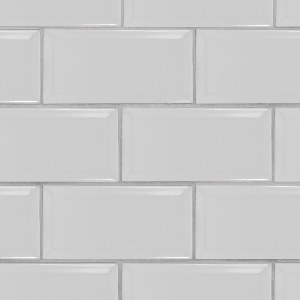 Crackle 4x8 White Subway Tile Beveled