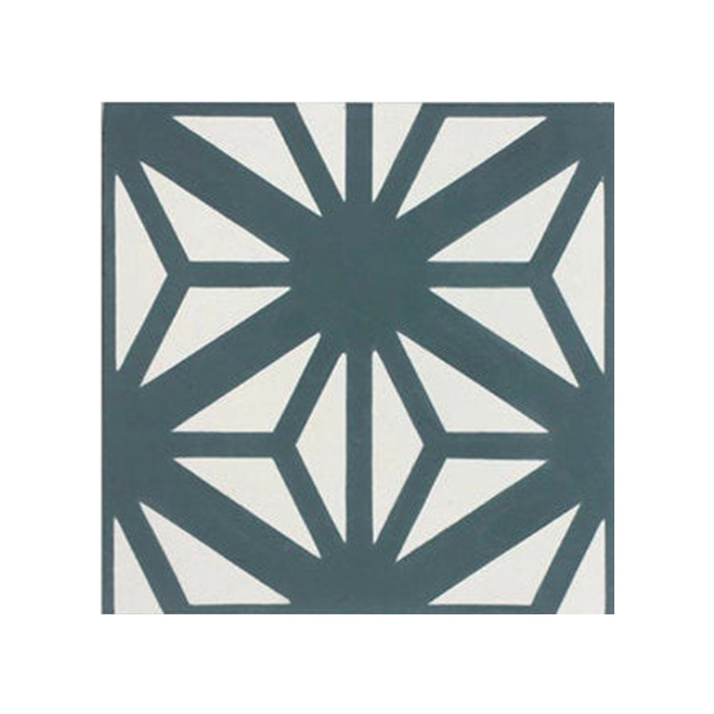 Estrella Teal Green Cement Tile