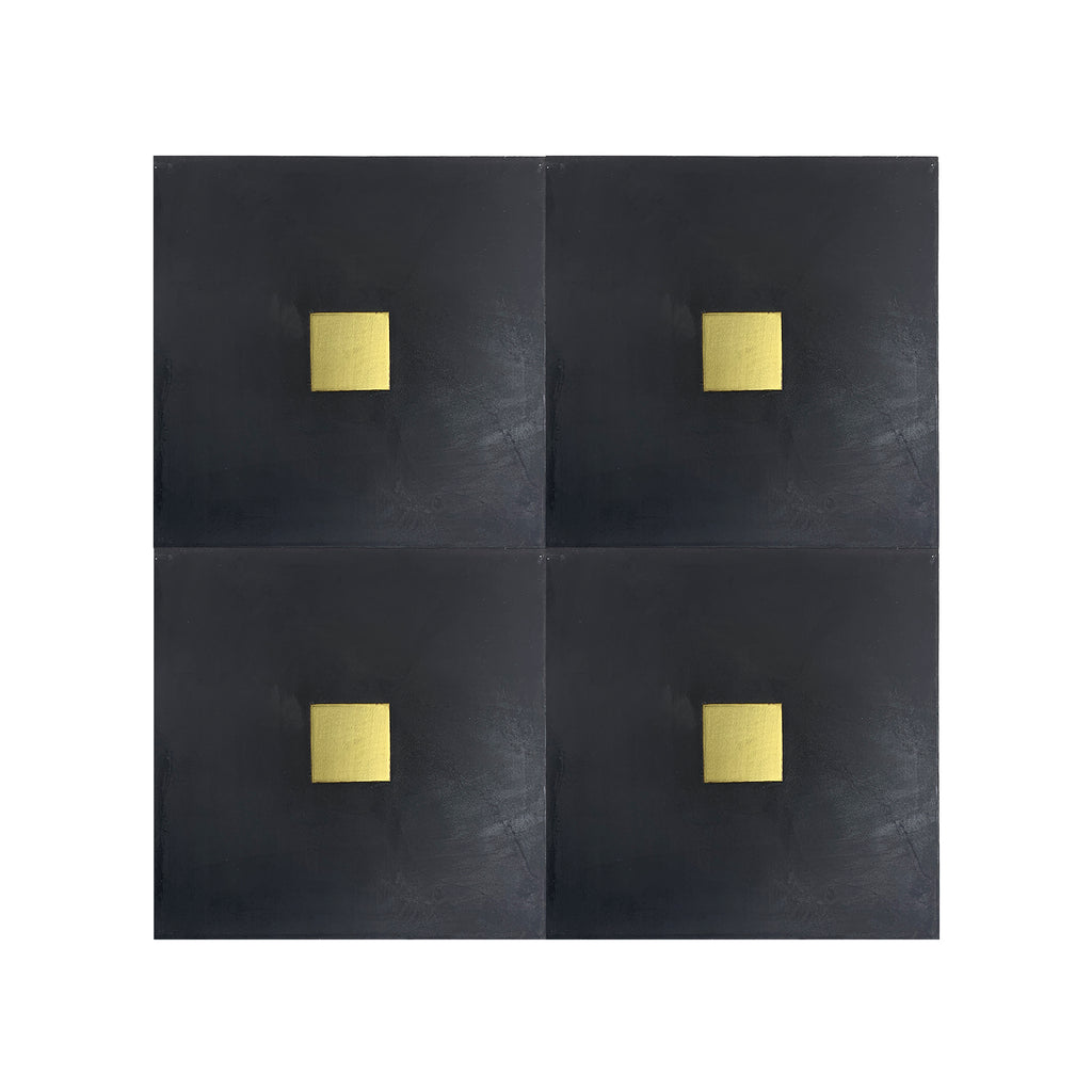 Spirito® Black Cement Tile with Brass Inlay
