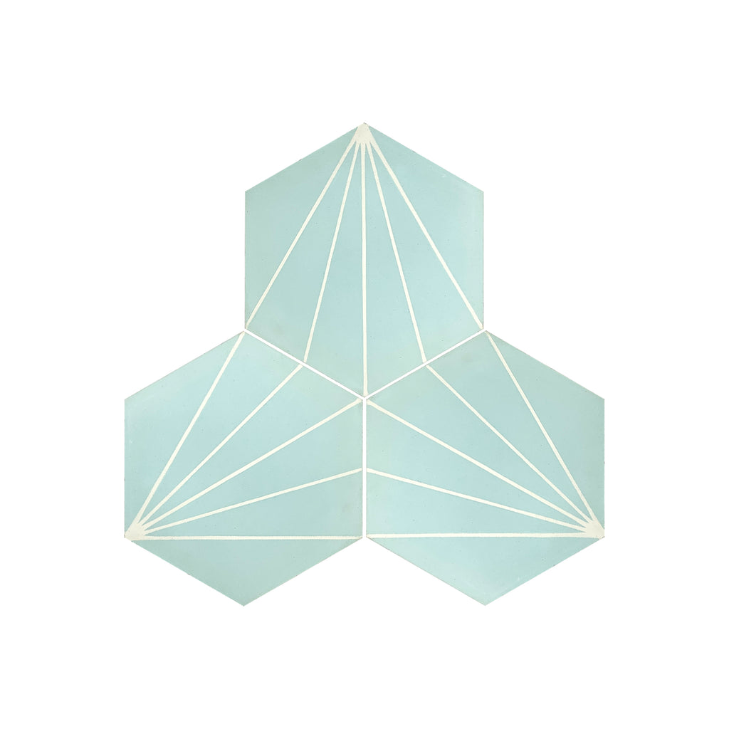 Florence Hexagon Cement Tile - Lot of 111.25