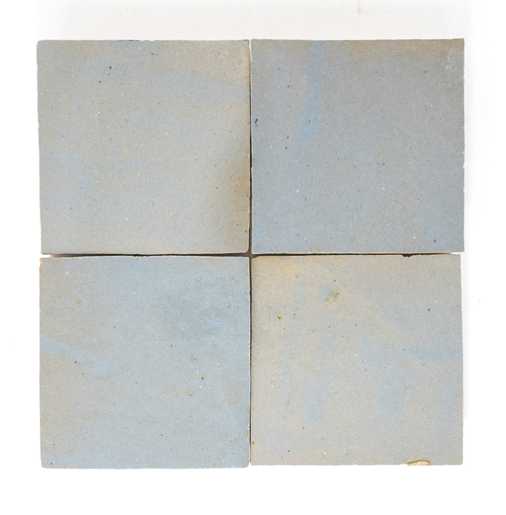 Handmade Zellige 4x4 Pewter Grey Terracotta Tile