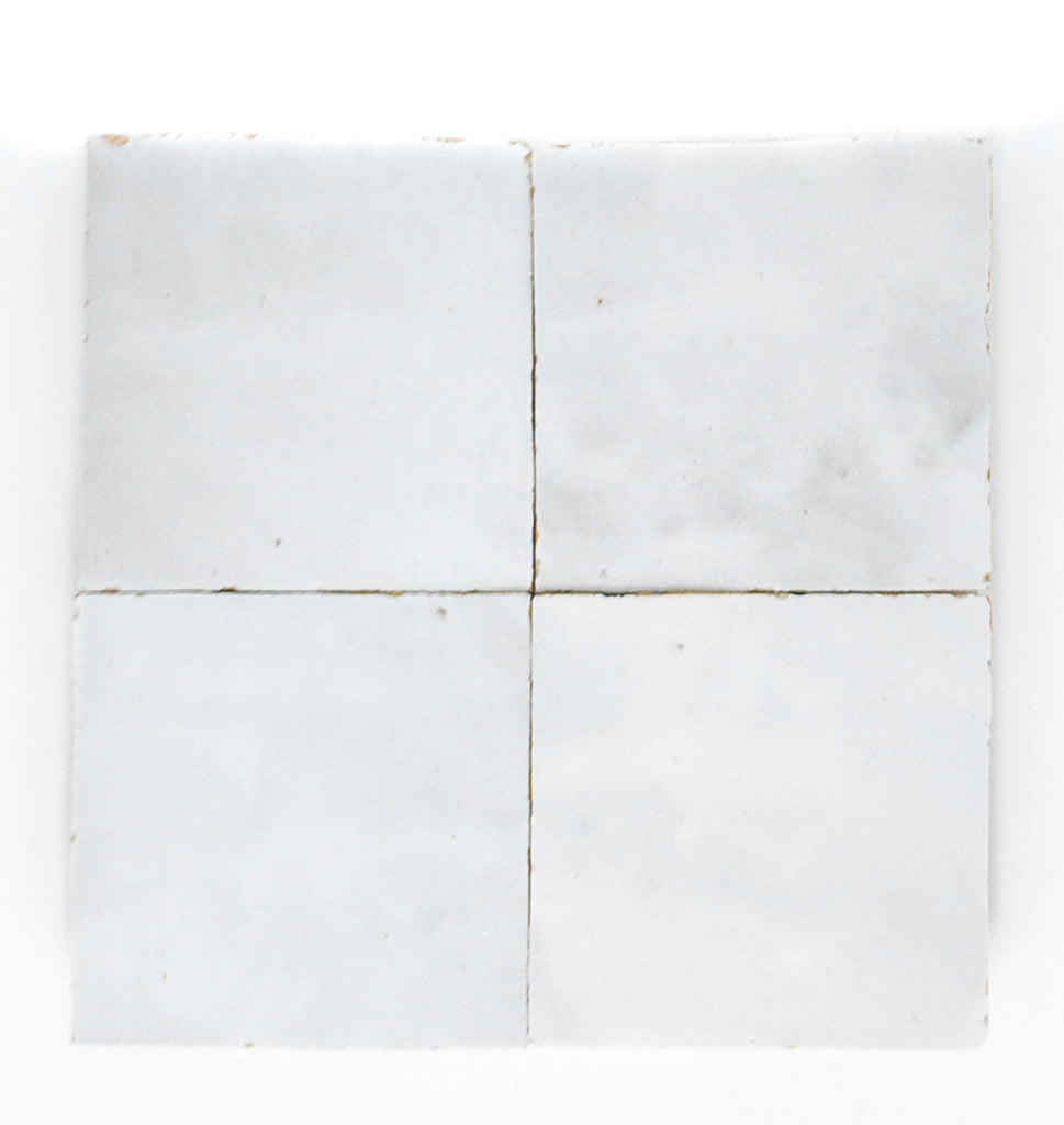 Handmade Zellige 4x4 Dust White Terracotta Tile