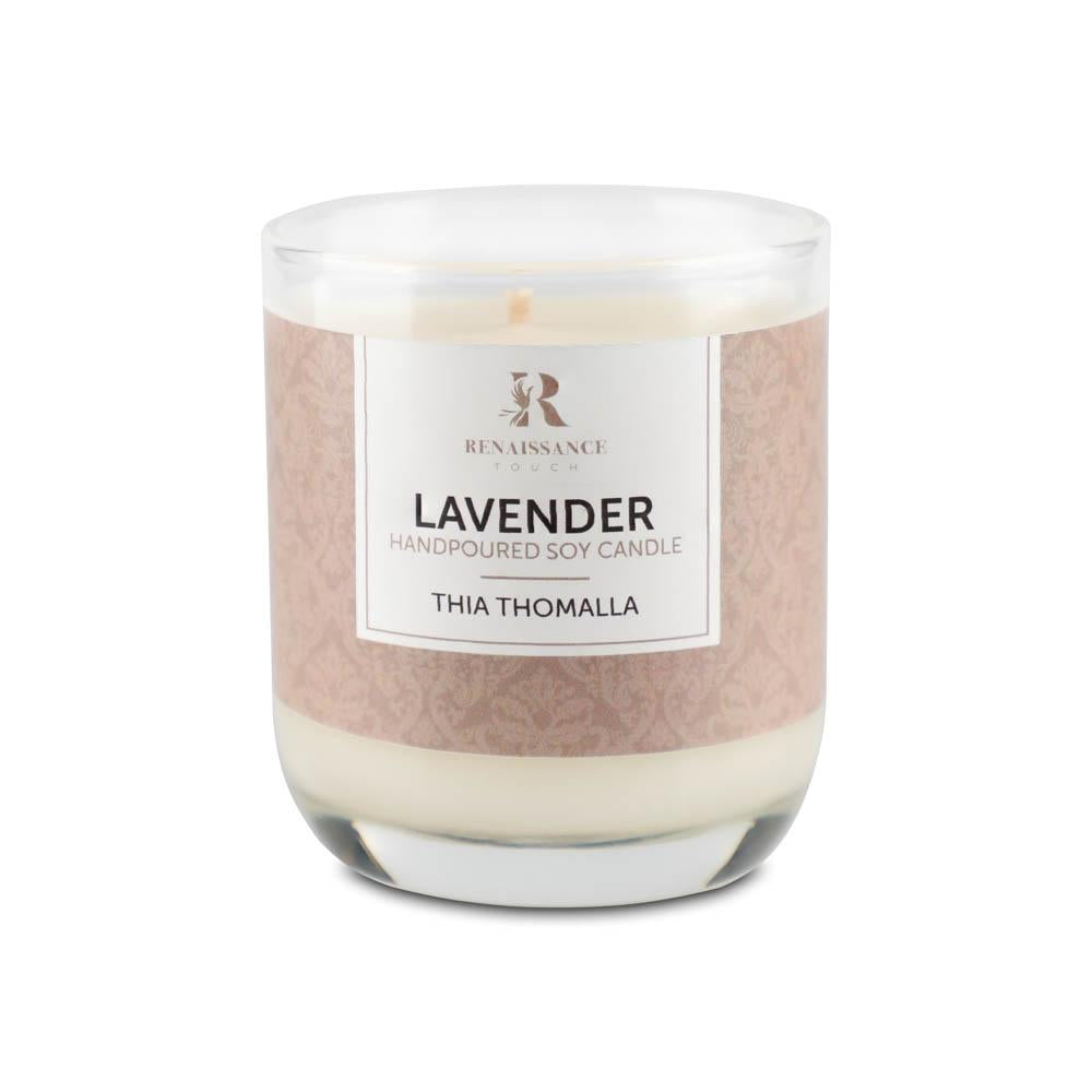 Lavender (Hand Poured Soy Candles) - Medium Glass Jar