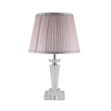 Chic Crystal Table Lamp with Pink Shade