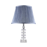 Minimalist Crystal Table Lamp with Blue Shade