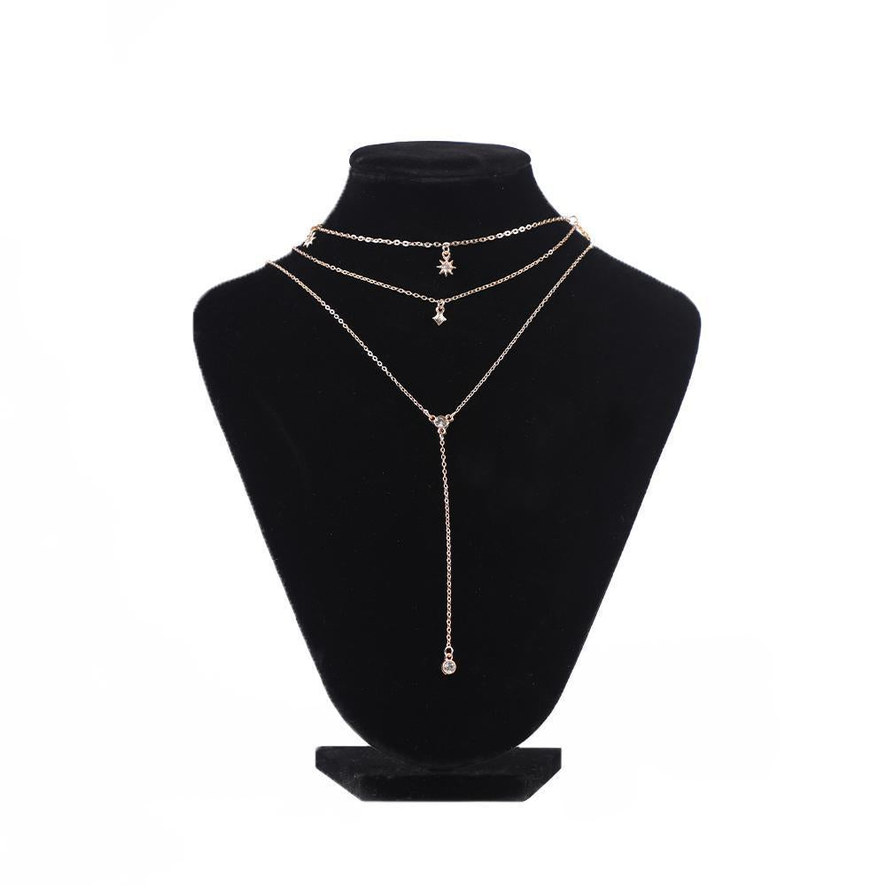 Three-Layered Compelling Chain Necklace