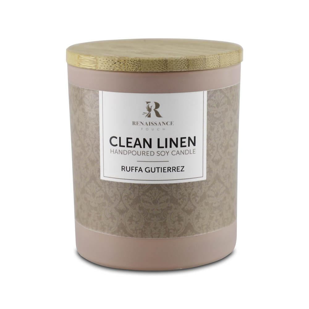 Clean Linen (Hand Poured Soy Candles) - Medium Metal Jar