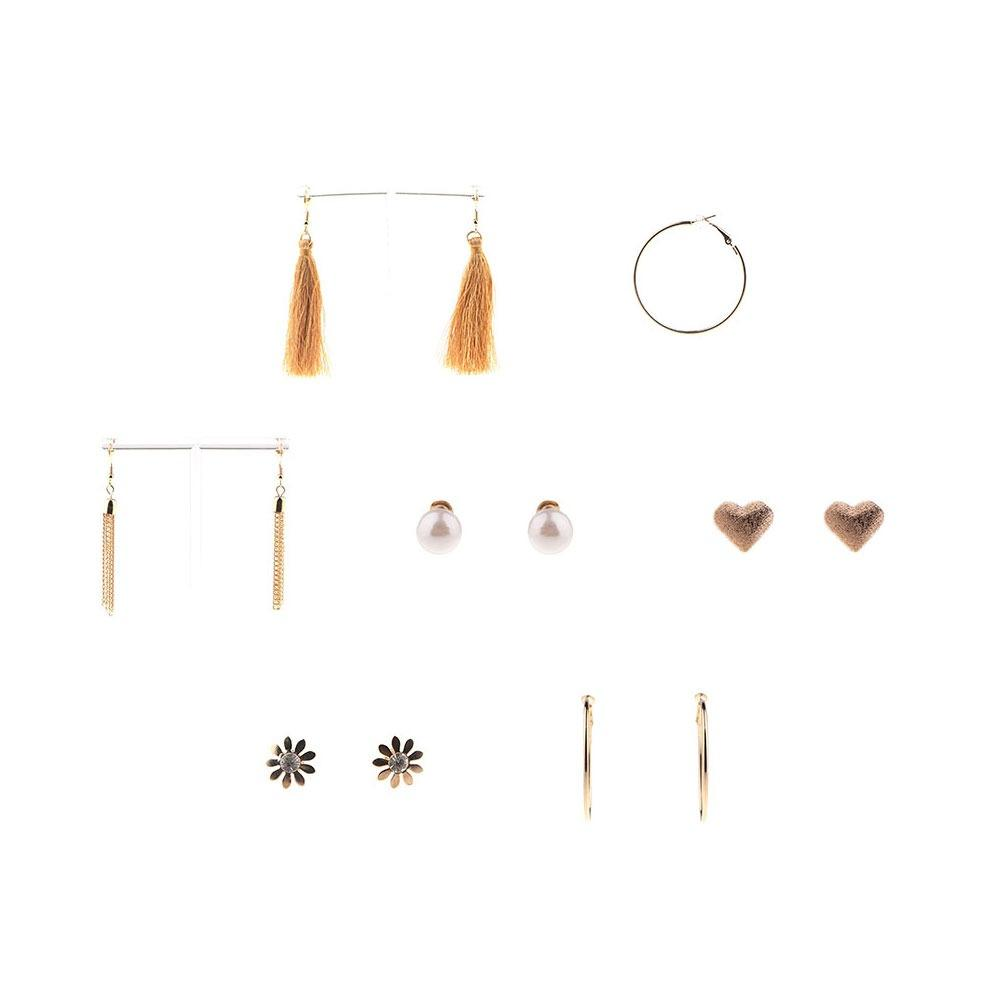 6 Pairs Lustrous and Divine Ear Jewelries Earrings Set