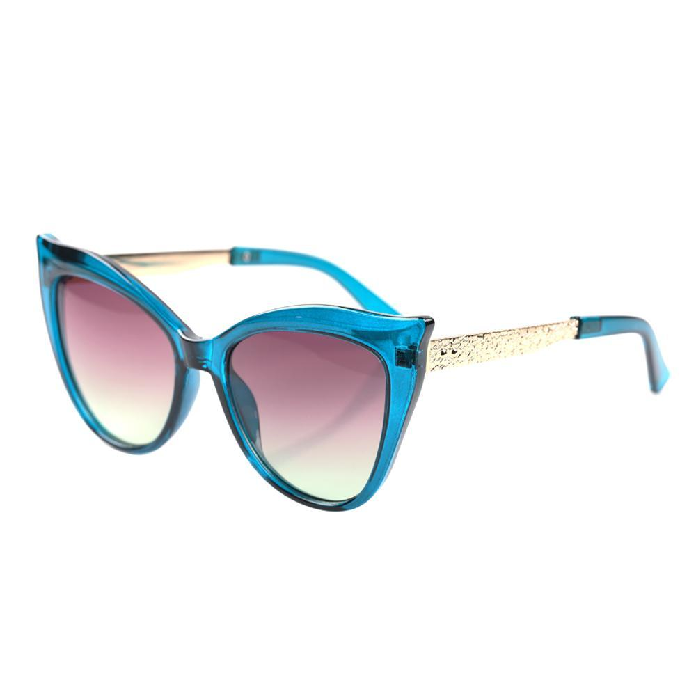 Blue Squared Cat Eye Specs