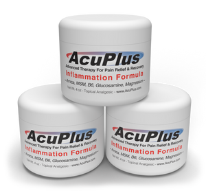 (3-Pack) AcuPlus Pain Relief Cream, 4 oz.