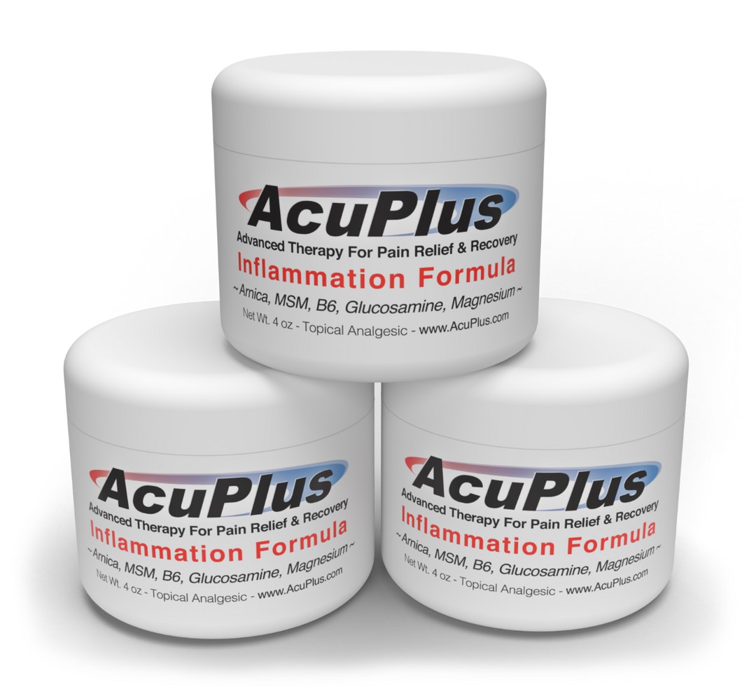 (3-Pack) AcuPlus Pain Relief Cream, 4 oz. Jar